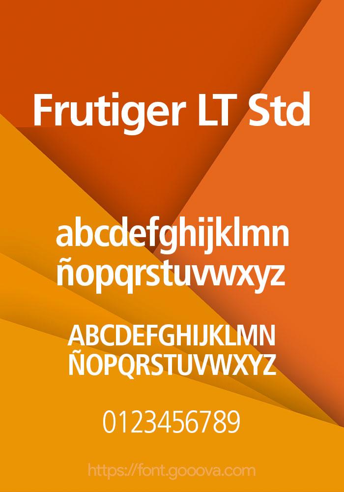 Frutiger LT Std Font